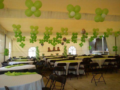 Decoración con globos Verde