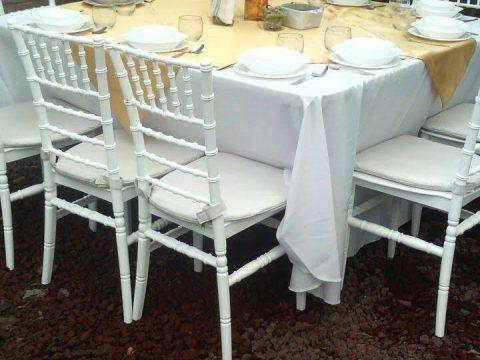 Silla con mesas Tiffany